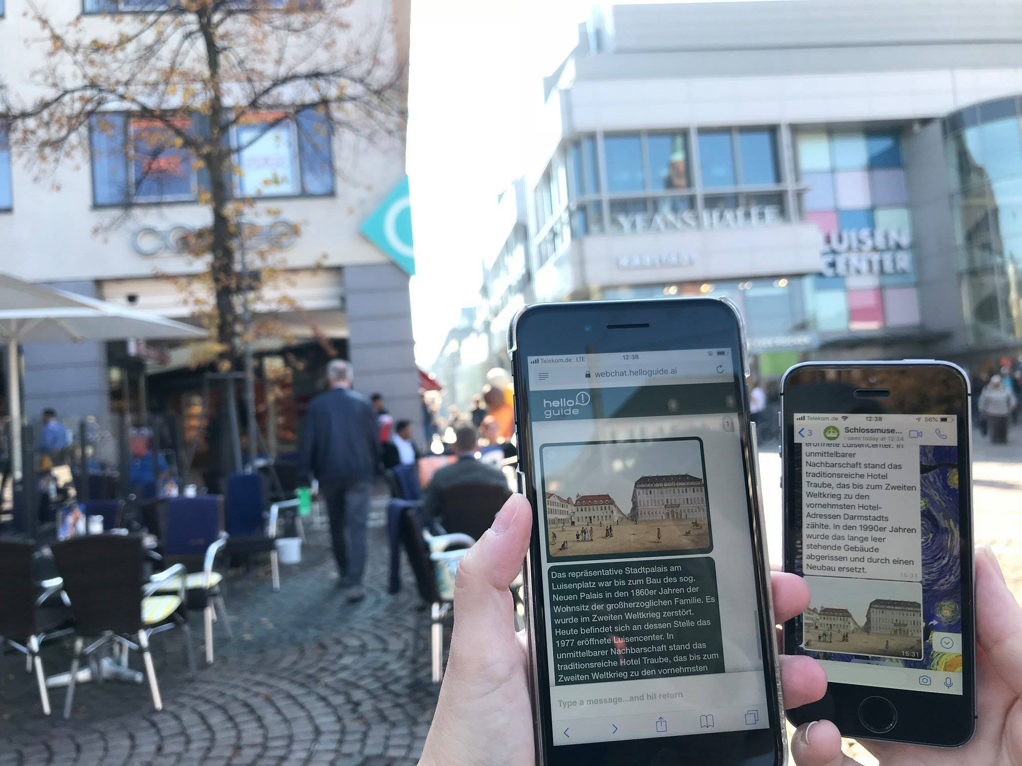"Experience exhibition ""The Old Darmstadt"" in the city with the smartphone"
